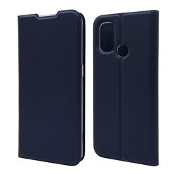 Ultra Slim Card Magnetic Automatic Suction Leather Wallet Case for OnePlus Nord N100 - Royal Blue