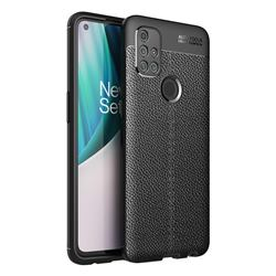 Luxury Auto Focus Litchi Texture Silicone TPU Back Cover for OnePlus Nord N10 5G - Black