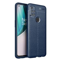 Luxury Auto Focus Litchi Texture Silicone TPU Back Cover for OnePlus Nord N10 5G - Dark Blue