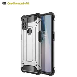 King Kong Armor Premium Shockproof Dual Layer Rugged Hard Cover for OnePlus Nord N10 5G - White