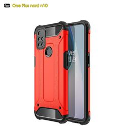 King Kong Armor Premium Shockproof Dual Layer Rugged Hard Cover for OnePlus Nord N10 5G - Big Red
