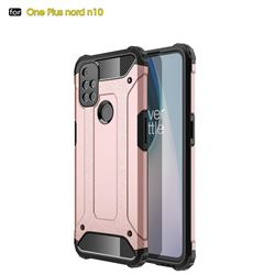 King Kong Armor Premium Shockproof Dual Layer Rugged Hard Cover for OnePlus Nord N10 5G - Rose Gold