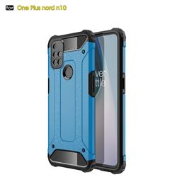 King Kong Armor Premium Shockproof Dual Layer Rugged Hard Cover for OnePlus Nord N10 5G - Sky Blue