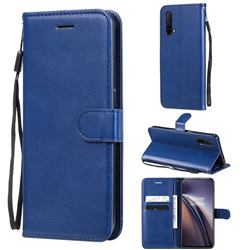 Retro Greek Classic Smooth PU Leather Wallet Phone Case for OnePlus Nord CE 5G (Nord Core Edition 5G) - Blue