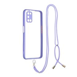 Necklace Cross-body Lanyard Strap Cord Phone Case Cover for Oppo A52 - Purple