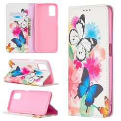 Flying Butterflies Slim Magnetic Attraction Wallet Flip Cover for Oppo A52