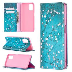 Plum Blossom Slim Magnetic Attraction Wallet Flip Cover for Oppo A52