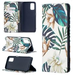Flower Leaf Slim Magnetic Attraction Wallet Flip Cover for Oppo A52