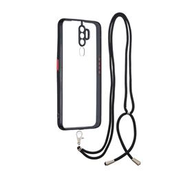 Necklace Cross-body Lanyard Strap Cord Phone Case Cover for Oppo A5 (2020) - Black
