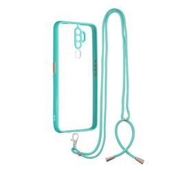 Necklace Cross-body Lanyard Strap Cord Phone Case Cover for Oppo A5 (2020) - Blue