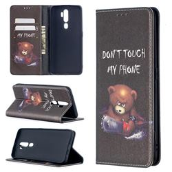 Chainsaw Bear Slim Magnetic Attraction Wallet Flip Cover for Oppo A5 (2020)