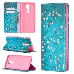 Plum Blossom Slim Magnetic Attraction Wallet Flip Cover for Oppo A5 (2020)