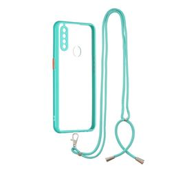 Necklace Cross-body Lanyard Strap Cord Phone Case Cover for Oppo A8 - Blue