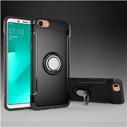 Armor Anti Drop Carbon PC + Silicon Invisible Ring Holder Phone Case