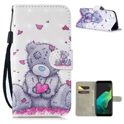 Love Panda 3D Painted Leather Wallet Phone Case for Oppo F5