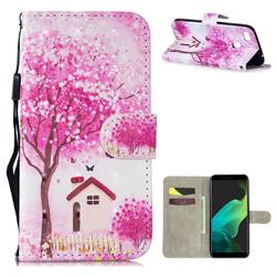 Tree House 3D Painted Leather Wallet Phone Case for Oppo F5