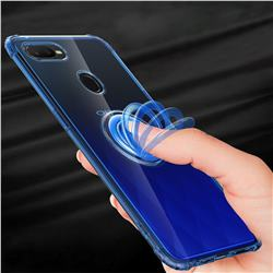 Anti-fall Invisible Press Bounce Ring Holder Phone Cover for Oppo F9 (F9 Pro) - Sapphire Blue