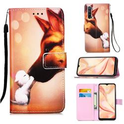 Hound Kiss Matte Leather Wallet Phone Case for Oppo Find X2 Lite