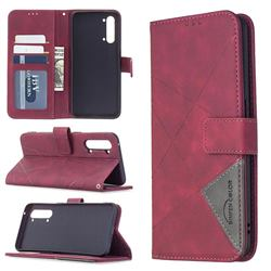 Binfen Color BF05 Prismatic Slim Wallet Flip Cover for Oppo Find X2 Lite - Red