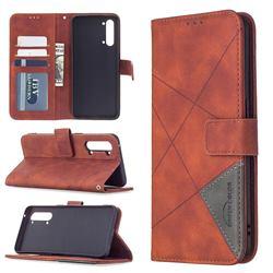 Binfen Color BF05 Prismatic Slim Wallet Flip Cover for Oppo Find X2 Lite - Brown