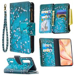 Blue Plum Binfen Color BF03 Retro Zipper Leather Wallet Phone Case for Oppo Find X2 Pro