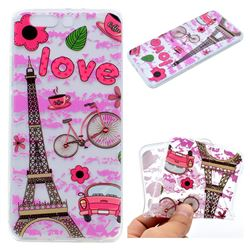 Love Eiffel Tower Super Clear Soft TPU Back Cover for OnePlus 5