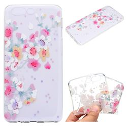 Peach Super Clear Soft TPU Back Cover for OnePlus 5