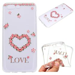 Heart Garland Super Clear Soft TPU Back Cover for OnePlus 5