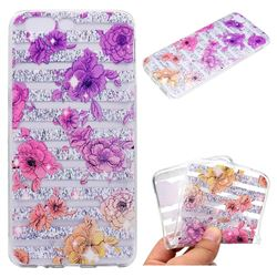 Striped Roses Super Clear Soft TPU Back Cover for OnePlus 5