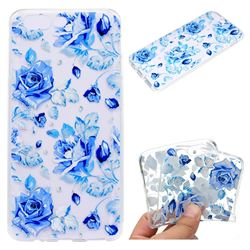 Ice Rose Super Clear Soft TPU Back Cover for OnePlus 5