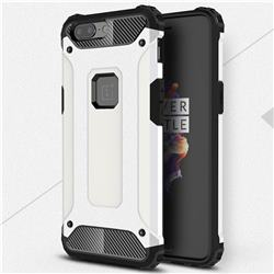 King Kong Armor Premium Shockproof Dual Layer Rugged Hard Cover for OnePlus 5 - White
