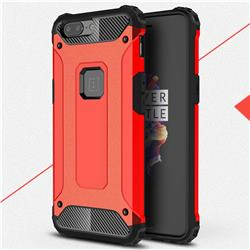 King Kong Armor Premium Shockproof Dual Layer Rugged Hard Cover for OnePlus 5 - Big Red