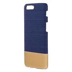 Canvas Cloth Coated Plastic Back Cover for OnePlus 5 - Dark Blue
