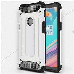 King Kong Armor Premium Shockproof Dual Layer Rugged Hard Cover for OnePlus 5T - White