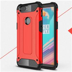 King Kong Armor Premium Shockproof Dual Layer Rugged Hard Cover for OnePlus 5T - Big Red