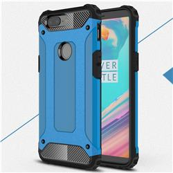 King Kong Armor Premium Shockproof Dual Layer Rugged Hard Cover for OnePlus 5T - Sky Blue