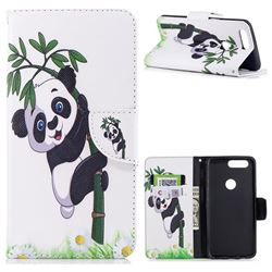 Bamboo Panda Leather Wallet Case for OnePlus 5T