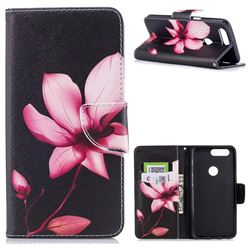 Lotus Flower Leather Wallet Case for OnePlus 5T