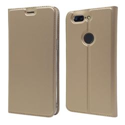 Ultra Slim Card Magnetic Automatic Suction Leather Wallet Case for OnePlus 5T - Champagne