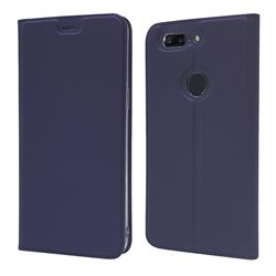 Ultra Slim Card Magnetic Automatic Suction Leather Wallet Case for OnePlus 5T - Royal Blue