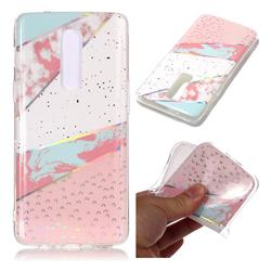 Matching Color Marble Pattern Bright Color Laser Soft TPU Case for OnePlus 6