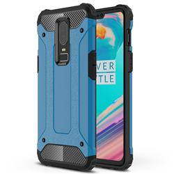 King Kong Armor Premium Shockproof Dual Layer Rugged Hard Cover for OnePlus 6 - Sky Blue