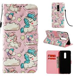 Angel Pony 3D Painted Leather Wallet Case for OnePlus 6