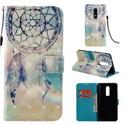Fantasy Campanula 3D Painted Leather Wallet Case for OnePlus 6