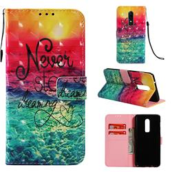 Colorful Dream Catcher 3D Painted Leather Wallet Case for OnePlus 6