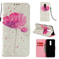 Watercolor 3D Painted Leather Wallet Case for OnePlus 6