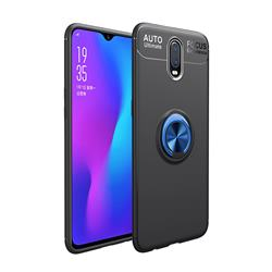 Auto Focus Invisible Ring Holder Soft Phone Case for OnePlus 6T - Black Blue