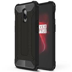 King Kong Armor Premium Shockproof Dual Layer Rugged Hard Cover for OnePlus 6T - Black Gold