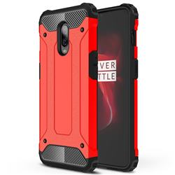King Kong Armor Premium Shockproof Dual Layer Rugged Hard Cover for OnePlus 6T - Big Red