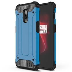 King Kong Armor Premium Shockproof Dual Layer Rugged Hard Cover for OnePlus 6T - Sky Blue